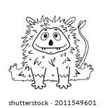 funny cute alien monster... | Shutterstock .eps vector #2011549601