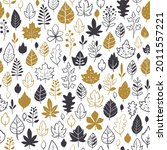 autumn seamless background with ... | Shutterstock .eps vector #2011557221