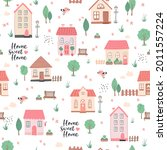 cute seamless pattern with... | Shutterstock .eps vector #2011557224