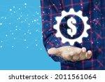 2d rendering usd dollar symbol   | Shutterstock . vector #2011561064