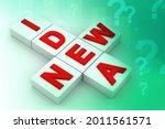 3d illustration creativity idea ... | Shutterstock . vector #2011561571