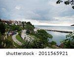 Coastline in the old town of Nesebar, Bulgaria.