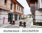 Houses on old port Nesebar, Bulgaria.
