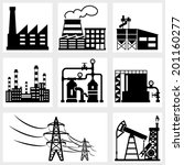 industry icons black vector...   Shutterstock .eps vector #201160277