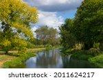 Summer Landscape Of River...