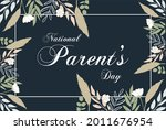 national parent s day. holiday... | Shutterstock .eps vector #2011676954