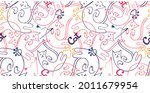 seamless pattern with cat  cat... | Shutterstock .eps vector #2011679954
