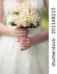 beautiful wedding bouquet in... | Shutterstock . vector #201168215