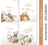 set of floral brochures with... | Shutterstock .eps vector #201168365