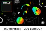 urban black background with... | Shutterstock .eps vector #2011685027