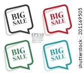 vector   colorful speech bubble ... | Shutterstock .eps vector #201169505