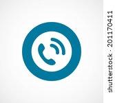 bold blue border circle call... | Shutterstock .eps vector #201170411