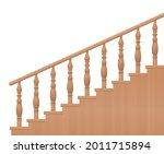 wooden banisters  turned stair... | Shutterstock .eps vector #2011715894