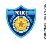 police badge vector. sheriff ... | Shutterstock .eps vector #2011762907