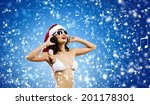 young woman in swimming suit... | Shutterstock . vector #201178301