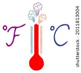red weather thermometer that... | Shutterstock .eps vector #2011813004