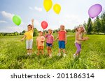 five cute children with...   Shutterstock . vector #201186314