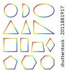 geometric shapes. rainbow...   Shutterstock .eps vector #2011881917