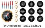 realistic golden vintage... | Shutterstock .eps vector #2011882601