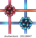 red and blue bows   Shutterstock .eps vector #20118847