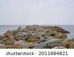 Rocky coastal landscape scene...