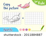 draw an whale by cells  game...   Shutterstock .eps vector #2011884887
