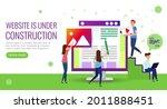 illustration website under...   Shutterstock . vector #2011888451