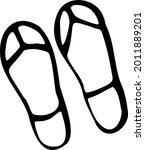 a pair of flip flops is a hand...   Shutterstock .eps vector #2011889201