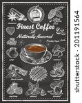 hand drawn of cafe items  vector | Shutterstock .eps vector #201191564