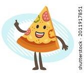 cartoon pizza character...   Shutterstock .eps vector #2011917851