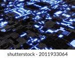 futuristic circuit board serves ...   Shutterstock . vector #2011933064