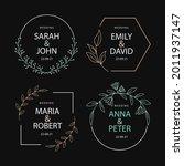 wedding monogram. vintage... | Shutterstock .eps vector #2011937147
