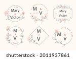 wedding monogram. vintage... | Shutterstock .eps vector #2011937861