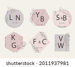 wedding monogram. vintage... | Shutterstock .eps vector #2011937981