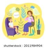 female speech therapist with...   Shutterstock .eps vector #2011984904