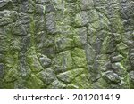 Moss Growing On Stone Wall ...