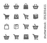simple set of shopping bags... | Shutterstock .eps vector #201201611