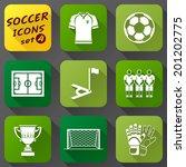 flat icons set of soccer... | Shutterstock .eps vector #201202775