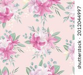 seamless pattern with beautiful ... | Shutterstock .eps vector #2012044997