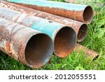 Old Rusty Water Pipes Of The...