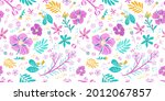 seamless floral pattern with... | Shutterstock .eps vector #2012067857