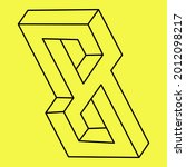 impossible shape  optical... | Shutterstock .eps vector #2012098217