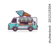 food truck vehicle ice cream...   Shutterstock .eps vector #2012125304