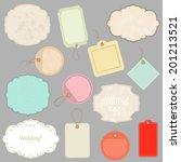 vintage labels set  | Shutterstock .eps vector #201213521