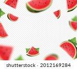 falling watermelon fruit on... | Shutterstock .eps vector #2012169284
