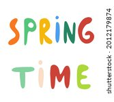 spring time multicolored vector ... | Shutterstock .eps vector #2012179874