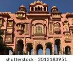 Small photo of Patrika Gate, The ninth gate of Jaipur located at Jawahar Circle, India.