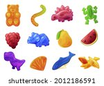 collection of multicolored... | Shutterstock .eps vector #2012186591