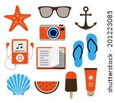 collection of icons... | Shutterstock .eps vector #201223085