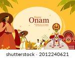 onam festival background with...   Shutterstock .eps vector #2012240621